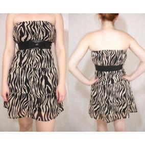 Vestido Talle M Argee Animal Print + Cinto Con Moño Negro