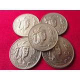Moneda Plata 50 Centavos 1950 Cuahutemoc Alta Condicion