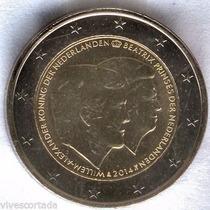 Holanda 2014 Moneda 2 Euros Sin Circular Guillermo Y Beatriz