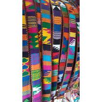 12 Cinturones De Cuero Bordados Unisex Talla 34 A 42 Chiapas