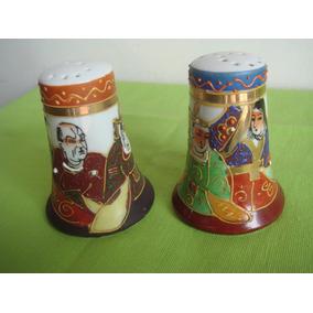 Antiguo Salero/piment. Porcelana Satsuma -sellado- Impecable