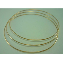 18k Argola De Ouro Puro Bracelete