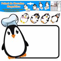 Lousa De Recado Imã Pinguim Cheff Painel Para Geladeira