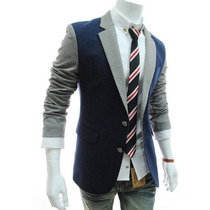 Sacos Juveniles Hombre Slim Fit Estilo Blazer Moda Casual
