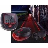 Velocímetro Bicicleta 15 Funciones + Luz Trasera Con Laser
