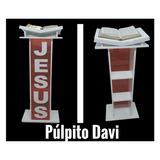 Púlpito Para Igreja Modelo Davi Em Mdf E Acrilico