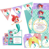 Kit Imprimible La Sirenita, Princesa Ariel Vintage Candy Bar