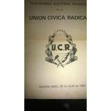 Plataforma Electoral Nacional Unión Cívica Radical 1983