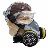 Mascara Respirador Facial Pintura Gases Vapores Orgânicos