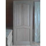 Puerta Modelo Clásico 2 Panela. 100% Pura Madera 0.90 X 2.10