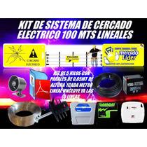 Cerco Electrico Kit 100 Mts Energizador Y Mas 5 Hilos