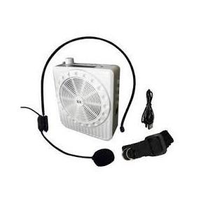 Microfone Digital Amplificado Branco Voz Som Alto Palestrant