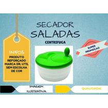 Secador Saladas Verduras Legumes Centrífuga Manual Grande