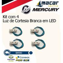 Kit Com 4 Luz De Cortesia Degrau 2 Leds Brancos 12v Marítimo