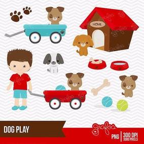 Kit Imprimible Perro Mascota Jugando 1 Imagenes Clipart