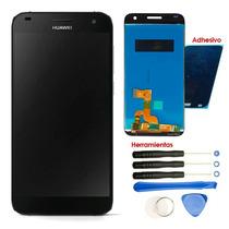 Huawei G7 Pantalla Display L03 L101 Touch Kit Adhesivo Negro