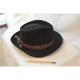 Sombrero Made In Ecuador De Tela Tipo Paño, Fieltro T 55