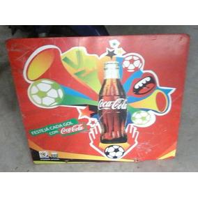 Cartel Chapa Gruesa Original Coca Cola Litog. Sudafrica 2010