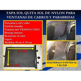Par Tapasol Parasol Enrollable Vehiculos Proteje Niños Nylon