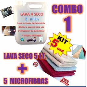 Kit Lava Carro A Seco De Alto Brilho + 5 Panos De Microfibra
