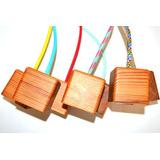 Portalamparas Con Capuchon De Madera Y Cable Textil