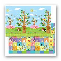 Playmat Alfombra De Juegos Reversible Pájaros Árbol-animales