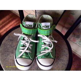 Pony Zapatillas-botas (originales) En Lona Verde N° 38.5