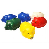 Kit 24 Cofrinhos Porquinhos Coloridos De Plástico