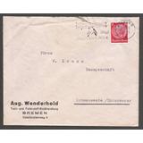Alemania 1936 Excelente Sobre De Bremen A Schwanewede -395