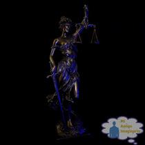 Justicia Diosa Figura Resina Balanza Espada Grecia Derecho