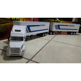 Full Doble Remolque Volvo Vn 780 Caja New Ray Escala 1/32