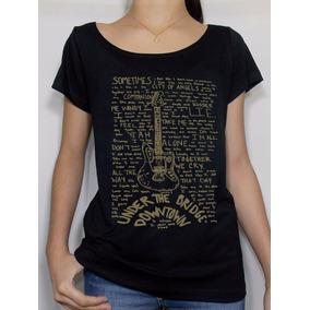 Camiseta Feminina Bandas Rhcp Letra Rock In Rio Festival