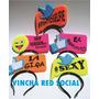 Vinchas Red Social O Frases Fluo!!! X 50 Unidades
