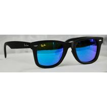 Lentes Ray-ban Wayfarer 2140 Tornasol Azul 100% Originales