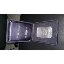 Moeda Barra De Prata Pura 999 Com Certificado Do Banco Safra