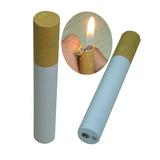 Lindo Encendedor Modelo Cigarro De Metal A Gas De Coleccion