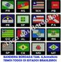 Mini Bandeira Bordada Brasil Tam. 5cm Sp Rj Rs Es Sc Df Pr