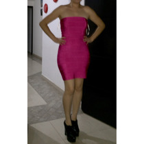 Vestido Forever 21 Bandage Rosa Bebe Barbie Tiras Herve
