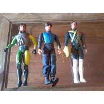2 Muñecos Originales Max Steel Con Accesorios