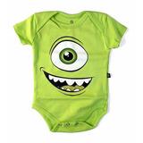 Body Mike Wazowski Fantasia Bebê Pixar Monstros Sa