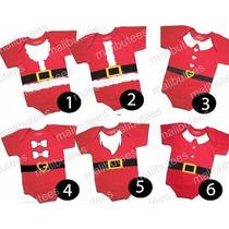 Body Infantil Meu Primeiro Natal Bebê Papai Noel Baby Kids