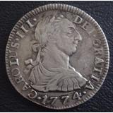 Moneda Colonial 1774 Excelente Estado 2 Reales Plata