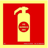 Placa Extintor Pqs Abc 15x15cm Fotoluminesc Npt 20 Bombeiros