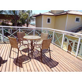 Conjunto De Mesa 4 Cadeiras Aluminio Piscina Varanda + Frete