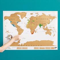 Mapa Mundi Raspasita Vinilo Planisferio Vinilo *tiendadenda*