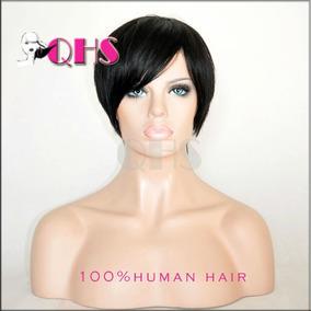 Wig Pixie Peruca Curta Cabelo 100% Humano