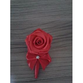 Lapelas Rosas De Cetim Noivos E Padrinhos