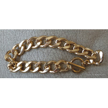 Pulsera Metalica Color Oro Italiano Broche Timon