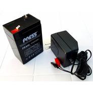 Bateria Gel 6v 4ah + Cargador Ideal Cuatriciclos Autos Niños