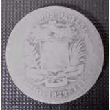 Buena Moneda De Plata 2 Bolivares Año 1922 G